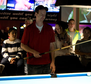 10 ball tour at Corner Bank Sports Bar and Grill